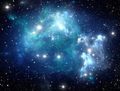 Nebulosa di stelle blu spazio — Foto Stock