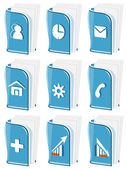 Glass Business Icons — Stock Vector