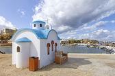 Vita kyrkan på kreta — Stockfoto