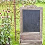 Chalkboard stand — Stock Photo