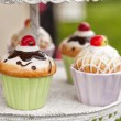 Ceramic cupcake containers — Stock Photo