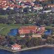 Landskrona citadel photographed from the air - Stock Photo