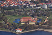 Landskrona citadel photographed from the air — Stock Photo