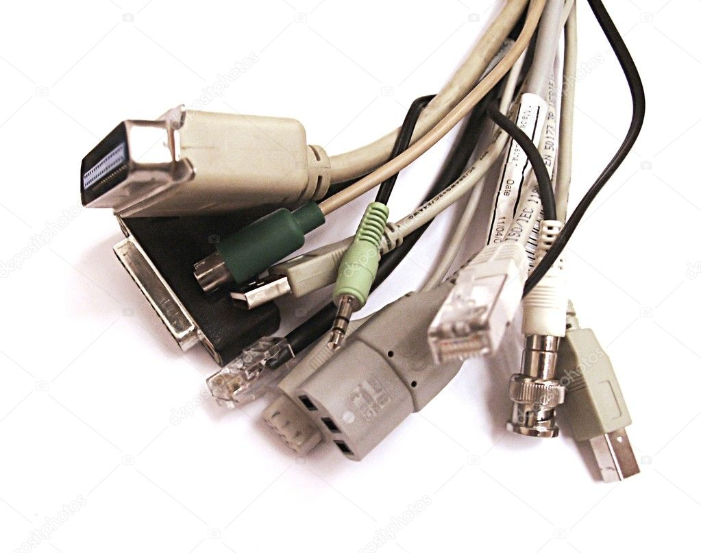 Cable bunch,close up — Stock Photo #10744824