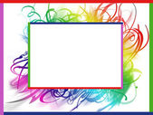 Colorful summer frame — Foto Stock