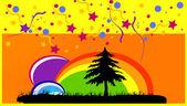 Color garden party — Stock Photo