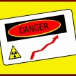 Danger zone radiation rise — Stock Photo