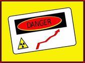 Danger zone radiation rise — Stock Photo