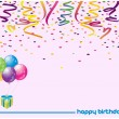 Happy birthday greetings - Stock Photo