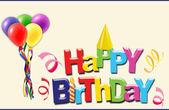Happy birthday greetings card — Stock Photo