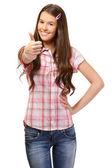 Portrait of a successful schoolgirl — Stock Photo