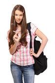 Teenage girl smoking — Stock Photo