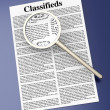 Stock Photo: Searching Classifieds