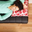 Jung brazilian woman sleeping on the sofa — Stock Photo #10780966