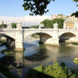 Ponte Vittorio Emanuele II in Rome — Stock Photo #11707606