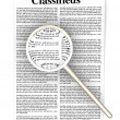 Searching the Classifieds — Stock Photo
