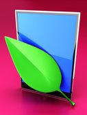 Eco Tablet PC — Stock Photo