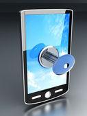 Kilitli smartphone — Stok fotoğraf