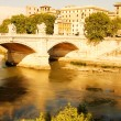 Ponte Vittorio Emanuele II in Rome - Stock Photo