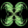 Green Symmetrical Abstrat Background - Stock Photo