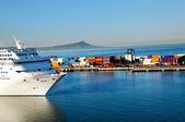 Cruise Ship Coming Into Port at Ensenada, Mexico — Stock Photo