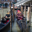 Gondolas on the Grand Canal in Venice — Stock Photo