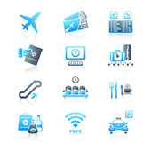 Airport icons | MARINE series — Stock Vector