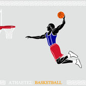 Athlete Basketball player — Stock Vector
