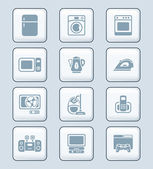 Home electronics icons | TECH series — Stock Vector