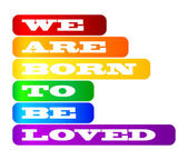 Gay pride poster — Stock Vector