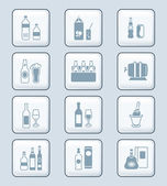 Drink bottles icons | TECH series — Stock Vector