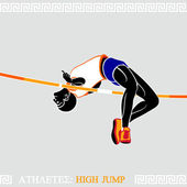 Athlete High Jump — Stock Vector