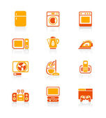 Home electronics icons | JUICY series — Stock Vector