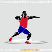 Athlete Shot putter — Stock Vector