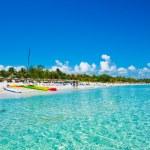 pláž Varadero na Kubě fotografoval z moře — Stock fotografie