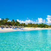 Varadero beach in Cuba photographed from the sea — Stock Photo