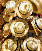 Hats for sale in a cuban market — Stock Photo