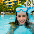 Cute girl on a swimming pool — Stock Photo #11043127