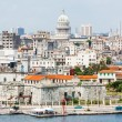 The city of Havana including famous buildings — Stock Photo