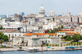 The city of Havana including famous buildings — ストック写真