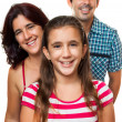 Portrait of a happy hispanic family — Stockfoto