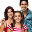 Portrait of a happy hispanic family — Stock Photo #11373705