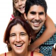 Portrait of a happy hispanic family — Stock Photo #11373748