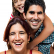 Stock Photo: Portrait of a happy hispanic family
