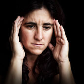 Portrait of a depressed and sad woman — Stock Photo