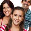Portrait of a happy hispanic family — Stock Photo #11470740