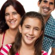Portrait of a happy hispanic family — Foto de Stock