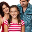 Portrait of a happy hispanic family — Stock Photo #11470741