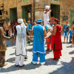 Street entertainers performing in Old Havana — Stock Photo