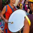 Artist playing drums in a cuban street carnival — Stock Photo #11609792
